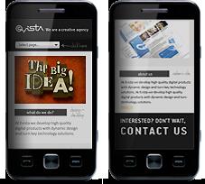 Mobilra optimalizált weboldal