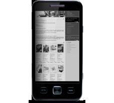 Sima weboldal mobilon